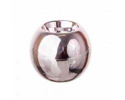 Подсвечник Шар (керамика) D8,5см розовый