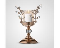 Подсвечник Drop (металл/стекло) D23*H25см золото арт.BC2386S