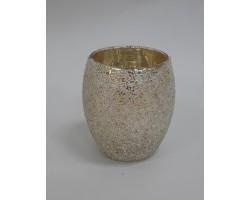 Подсвечник (стекло) D6.5*H9см серебро арт.AX20-OR-007