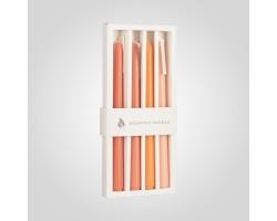 Набор интерьерных свечей Aroma mania 29*13*2см (4шт) оранжевый арт.7535-5