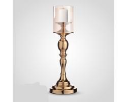 Подсвечник Сияние (металл/стекло) D12*H47,5см золото арт.YH6027ZA-1
