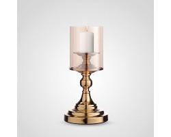 Подсвечник Сияние (металл/стекло) D12хH33см золото арт.YH6027ZB