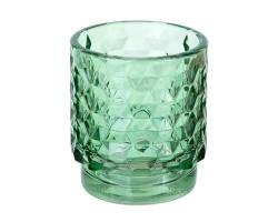 Подсвечник Таисия (стекло) D7*H8см зеленый