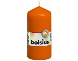 Свеча-столбик 12*6см 25 часов оранжевый