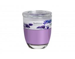 Свеча в стакане 8*7см 23 часа с запахом Лаванды