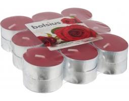 Набор свечей чайных (18шт) D3.7см 4 часа с запахом Бархатной розы