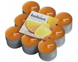 Набор свечей чайных (18шт) D3.7см 4 часа с запахом Сочного апельсина