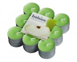 Набор свечей чайных (18шт) D3.7см 4 часа с запахом Зеленого яблока