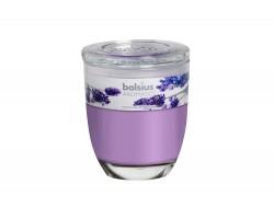 Свеча в стакане 12*10см 55 часов с запахом Лаванды