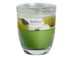 Свеча в стакане 12*10см 55 часов с запахом Яблока