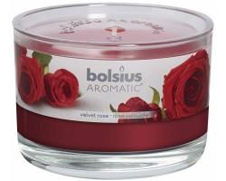 Свеча в стакане 6*9см 24 часа с запахом Розы
