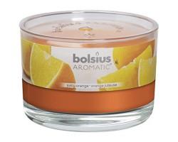 Свеча в стакане 6*9см 24 часа с запахом Апельсина