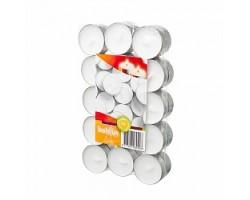 Набор свечей чайных (30шт) D3.7см 3,5 часа белый