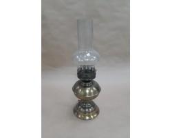 Подсвечник Лампа (металл/стекло) H40см золото
