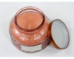 Свеча в банке с крышкой ароматическая (стекло) D9*Н13см розовый арт.HC7210100