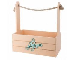 Ящик 8 Марта (дерево) 25*15*H30см персиковый
