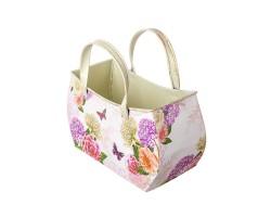 Кашпо сумка Весенний сад (металл) 24*11*H14/22см