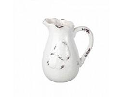 Кувшин Бабочка (керамика) H21см белый