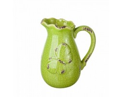 Кувшин Бабочка (керамика) H21см зеленый