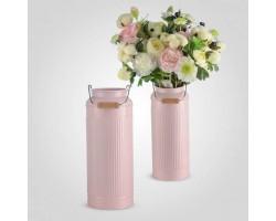 Ваза-бидон (металл) 26*12*8см розовый арт.YJ18-097-2