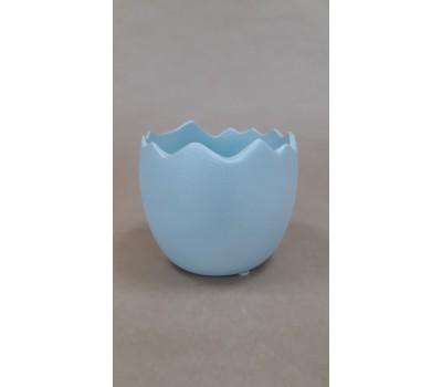 Кашпо Яйцо (керамика) D11.5*H12,5см голубой