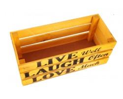 Ящик Live (дерево) 30*12*12см лимон арт.68356