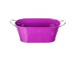 Кашпо (металл) 21,5*10,5*Н9см фиолетовый арт.117113055