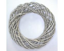 Венок декоративный (ива) D45см серый арт.LS1704325-45GR