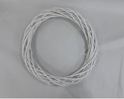 Венок декоративный (ива) D45см белый арт.LS1704325-45WT