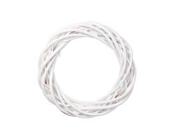 Венок декоративный (ива) D20см белый арт.LS1704325-20WT