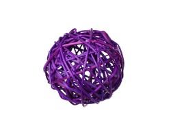 Набор шаров плетеных (ротанг) D10см (6шт) фиолетовый