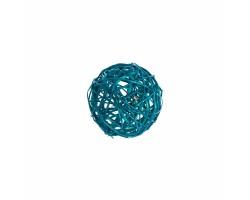 Набор шаров плетеных (ротанг) D10см (6шт) бирюзовый