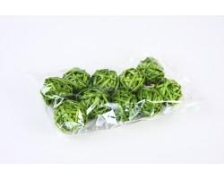 Шар из лозы зеленый 3,5см (упак.10шт)