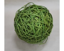 Шар из лозы зеленый 25см арт.9027