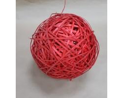 Шар из лозы красный 25см арт.9034
