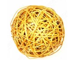 Шар из лозы светло-желтый 25см арт.9058