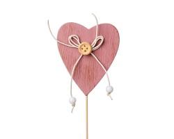 Вставка Сердце 7*H20см розовый арт.FH15711D