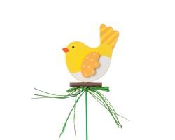 Вставка Птичка 7*Н20см желтый арт.FH17024Y