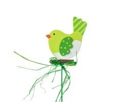 Вставка Птичка 7*Н20см зеленый арт.FH17024G