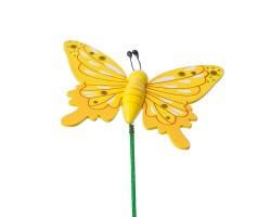 Вставка Бабочка 6*Н20см желтый арт.FH172197Y