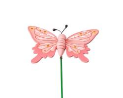 Вставка Бабочка 6*Н20см розовый арт.FH17297P