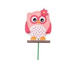 Вставка Сова 7*H20см розовый арт.FH17030P