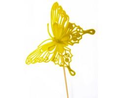Вставка Бабочка барокко 8*H50см желтый