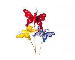Вставка Бабочка деревянная на пружинке 7*50см арт.60054