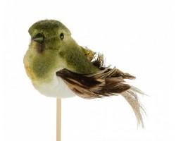 Птичка Tommy на вставке (пластик) 6,5*50см зеленый 5500010942233
