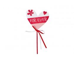 Вставка Сердце For ever 7см (упак.2шт) арт.61235