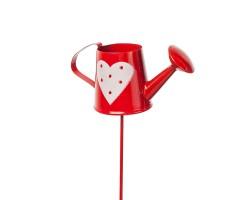 Лейка с сердцами на вставке 8*H28,5см красный