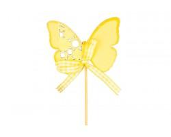 Вставка Бабочка 5,5*7см желтая арт.13752352