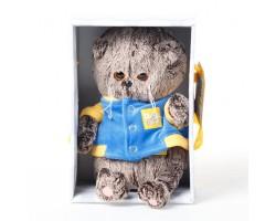 Басик BABY в синей куртке с желтой отделкой 20см BB-052