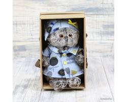 Басик в голубой пижаме в цветочек 22см Ks22-126